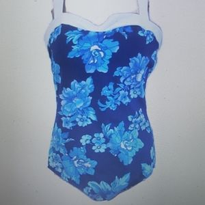 Miraclesuit One Piece Saxon Swimsuit Blue Floral